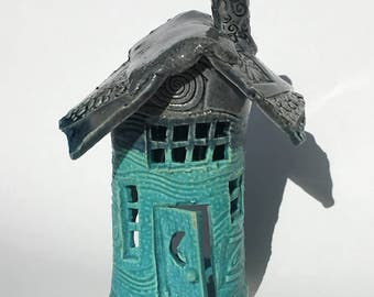 Clay Tealight Fairy House for Fairy Garden