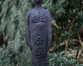 "Celtic figure, sculpture, ceramic figures and mystical figure, hand models ""The horned one"""