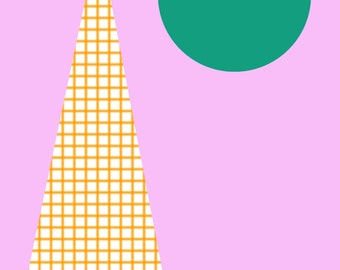 Geometric shape print