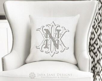 Custom Vintage Monogram   Luxury Wedding Logo