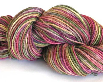 Alpaca Wool Yarn Hand Dyed Yarn Worsted Weight Yarn Soft Multi Colored Earthtones 215 Yards - Painted Desert
