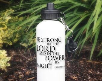 Bible Verse Water Bottle, Motivational Water Bottle, Inspirational Water Bottle, Christian Gift, Easter Gift for Him, Ephesians 6 Bottle