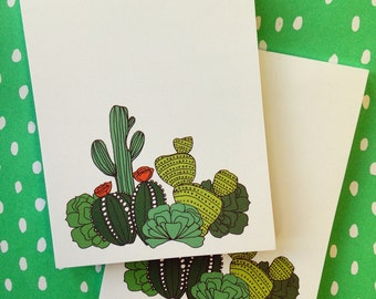 Cactus notepad - to do list pad - made in Nashville