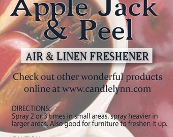 Fragrance Spray - APPLE JACK and PEEL - 8 oz - Bath & Home