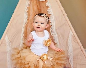 Birthday Tutu | 1st Birthday Tutu Dress | Baby Birthday Tutu | Cake Smash Tutu | Tutu Skirt | Champagne Gold Birthday Tutu