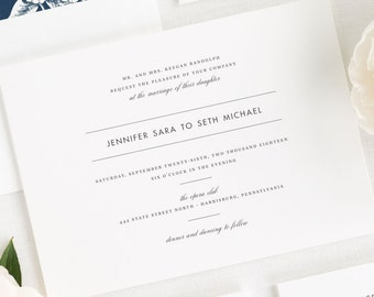 Modern Romance Wedding Invitations - Sample