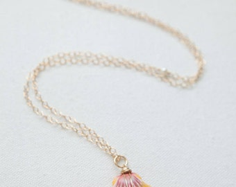 Large Sunrise Shell & Freshwater Pearl Necklace