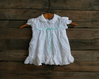 SUPER SALE - Vintage Children's White Dress with Lace Size 24 Months