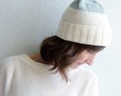 Beacon Pompom Hat in Ivory/Pool/Gray
