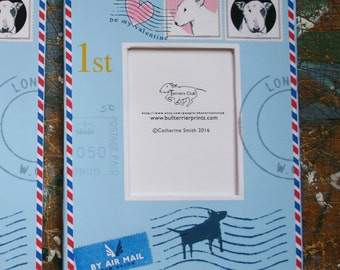 Bull Terrier Photo Frame Airmail Valentine Limited Edition