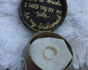 Bridesmaid Proposal Gift box with Jewelry