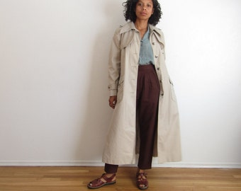 Vintage trench coat Womens rain coat Jacket Minimalist coat