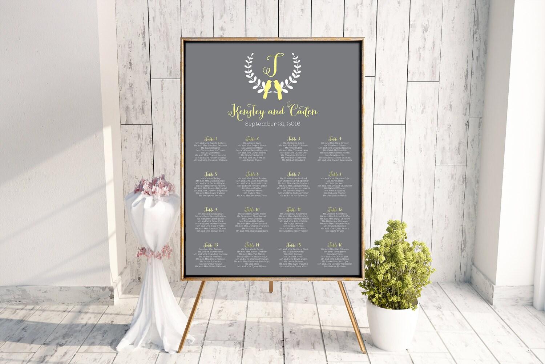 Love Bird Seating Chart, Wedding Seating Chart, Printable Seating ...