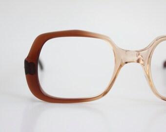 Vintage 70's Univis Chestnut Eyeglasses Frames