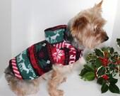 RESERVED for Zorris301 - Christmas Winter Dog Hoodie, Medium Holiday Fleece Dogs Jacket