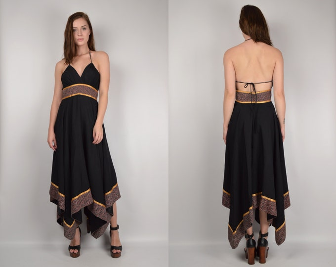 70's Gunne Sax Sun Dress backless halter