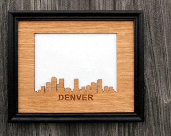 8x10 City Skyline Picture Frame, Skyline Decor Gift for Traveler, Vacation Photo Frame, Vacation Memories, skylineseries, Travel Gift
