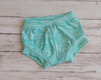 Teal Kid Shorts, Bloomers, Striped Shorts, Bummies, Kid Shorts, Toddler Shorts, Bubble Shorts, Diaper Cover, Shorties, Coming Home Outfit