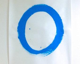 Original Abstract Painting Blue Abstract Art Modern Art Large Abstract Art Blue Painting Japanese Art Blue Art Zen Art Minimalist Art Enso