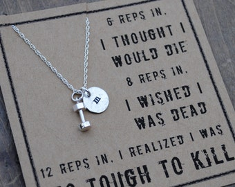 Too Tough Necklace  .  Cross Fit Jewelry  .  Workout Inspiration Jewelry  .  Fitness Motivation