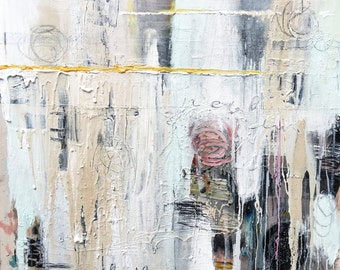 Large Modern Abstract Painting, No Bad Days: Sunday