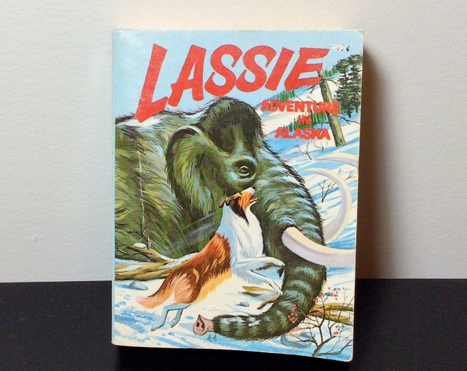 BIG LITTLE BOOK Lassie Adventure in Alaska Vintage 1967