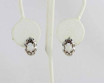 Sterling Silver Opal Post Stud Earrings