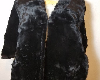 FREE  SHIPPING   Vintage Beaver Fur Wrap