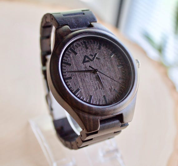Free engraving mens wood watch engraved wooden watch gift for Watches engraved