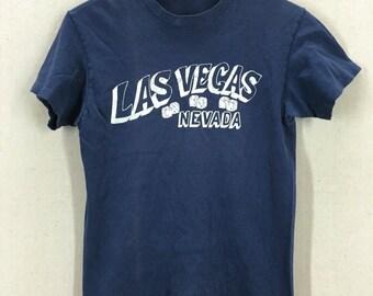 Vintage 80's Las Vegas Nevada Gambling TShirt Fits like an XS/S USA