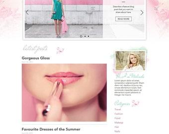 Premade Wix Website • Pink Mint Beauty Blog Theme