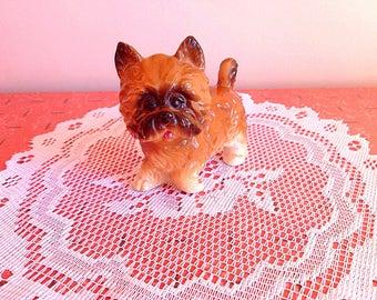Vintage dog figurine, Super cute vintage puppy dog ESD Japan ceramic figurine