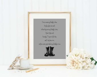 Daddy and Son Poem - Daddy Print - Dad Gift - New Dad Gift - Dad from Son - Father Son -Dad Office Sign - Daddy Son - Daddy's Shoes Poem