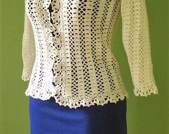 First Communion Cardigan, Communion Cardigan, Holy Communion Sweater, Girls Crochet Communion Cardigan