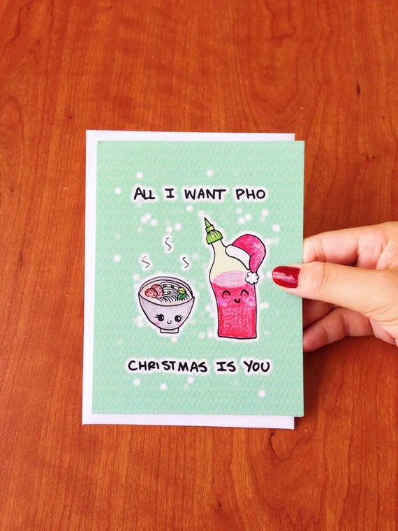 funny christmas card boyfriend cute christmas card foodie