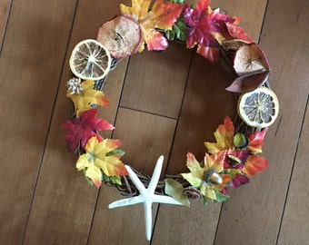 Beautiful Nautical Fall wreath