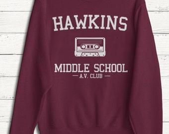 Stranger Things - Hawkins Sweater - The Upside Down - Pullover Sweatshirt - Sweater - Women - Crewneck - Men - Fleece - Humor - Funny