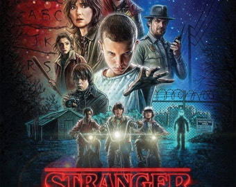 "ON SALE: Stranger Things Poster | Stranger Things Wall Art TV Show Poster High Resolution Print 11"" x 17"" - frame not included (2016)"