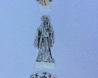 Santisima Muerte and Sugar Skull Stickers