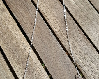 Freshwater pearl and silver bar necklace