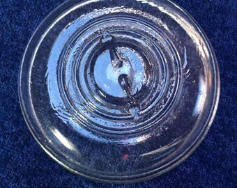One Ball Ideal Wide-Mouth Wire Bale Mason Jar Glass Lid.