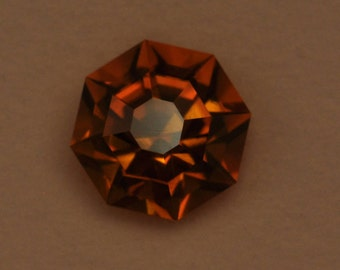 Faceted citrine Madeira Brazil