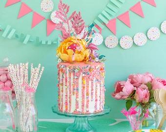 Drip Cake- Fake cake, prop cake, party decor