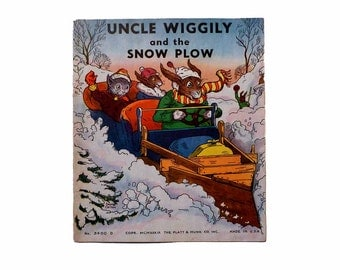 Uncle Wiggily and the Snow Plow by Garis Howard Illustrated by George Carlson 1st Edition Softcover Linen Platt & Munk 1939 Book No. 3600D