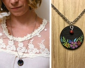 Flower Child - Hand Painted Necklace