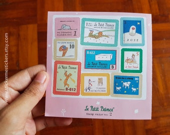 The Little Prince sticker, Le Petit Prince sticker, Stamp Sticker Set, Le Petit Prince, The Little Prince