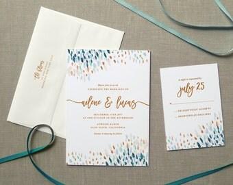 Rustic Wedding Invitation Boho Invites Suite