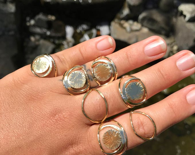 Featured listing image: O B S E R V E R  Brass Eye Statement Ring