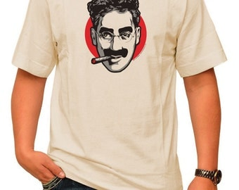 GROUCHO pre shrunk 100% cotton, short sleeve t-shirt - Marx Bros. Film Comedy