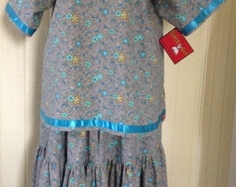 Native American Traditional *Nakoda Made* Ladies Pow Wow CAMP dress Size 4X